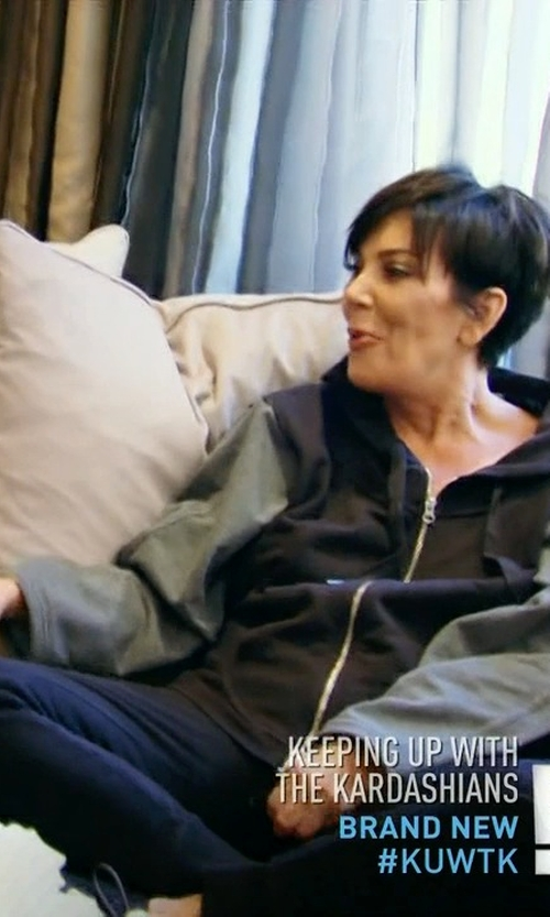 Kris Jenner with Nike All-Time Full-Zip Workout Hoodie in Keeping Up With The Kardashians