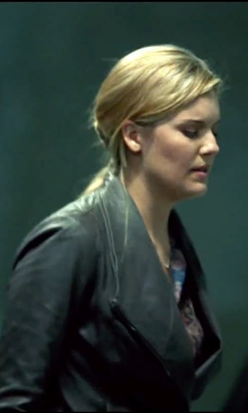 Maggie Grace with Neiman Marcus Leather Trench Coat in Taken 3
