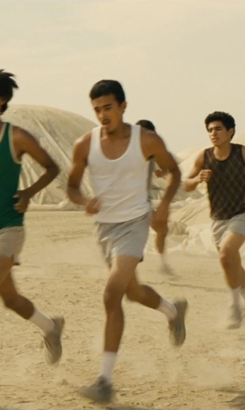 Sergio Avelar with Asics Men's Interval Split Shorts in McFarland, USA