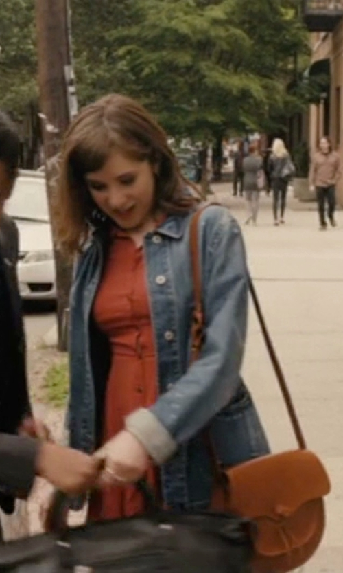 Noël Wells with Marc B Jackie Saddle Bag in Master of None