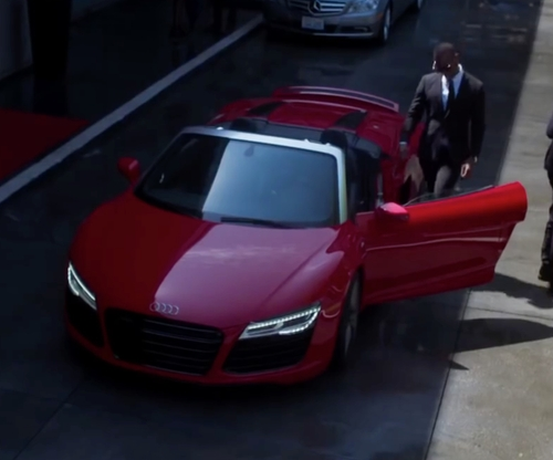 Marlon Wayans with Audi R8 Spyder Convertible in Fifty Shades of Black