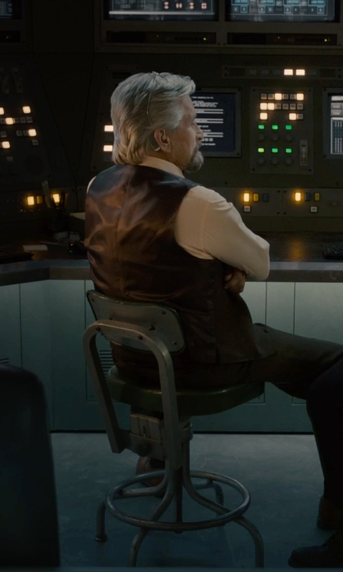 Michael Douglas with Armani Collezioni Modern Fit Basic Formal Shirt in Ant-Man