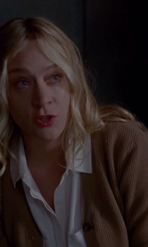 Chloë Sevigny with Jardin des Oranges Cashmere Cardigan in American Horror Story
