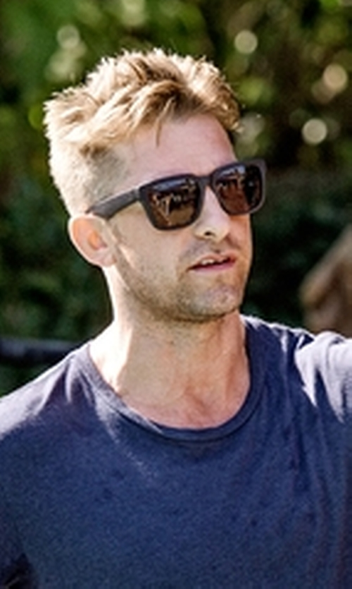 Scott Speedman with Lacoste Classic Wayfarer Sunglasses in Animal Kingdom