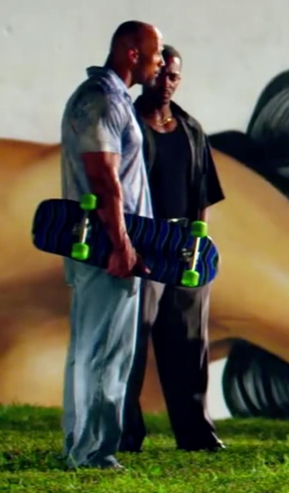 Anthony Mackie with J Brand Kane Sepia Jeans in Pain & Gain