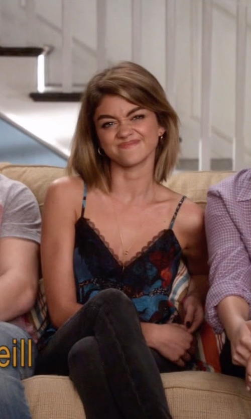 Sarah Hyland with Free People Not Your Baby Tank in Modern Family