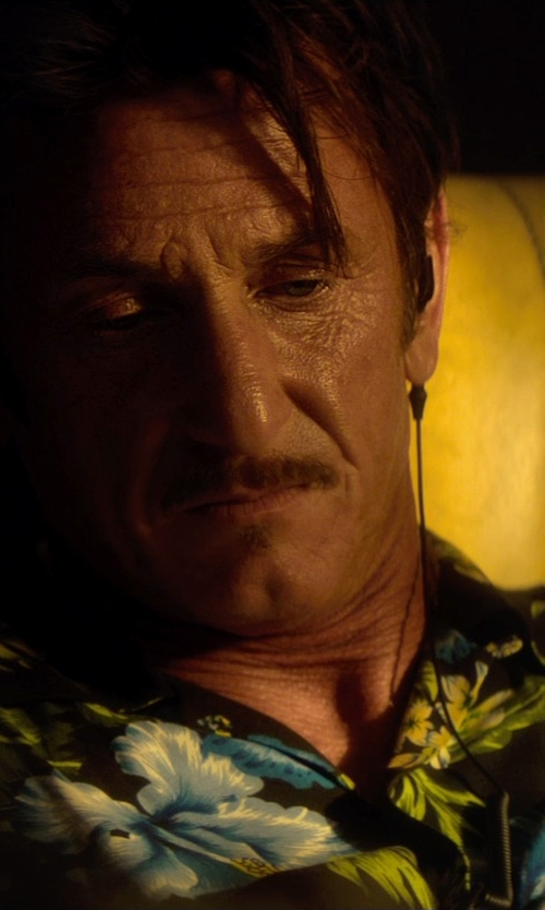 Sean Penn with LSTN Ebony Wood Earbuds in The Gunman