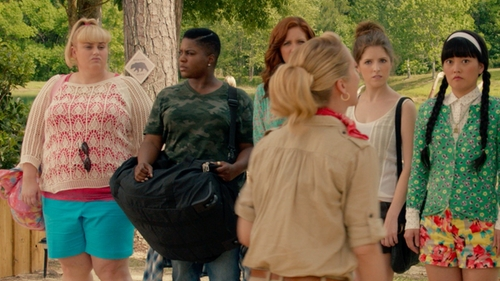 Ester Dean with NPUSA Duffle Military Molle Tactical Gear Shoulder Strap Travel Bag in Pitch Perfect 2