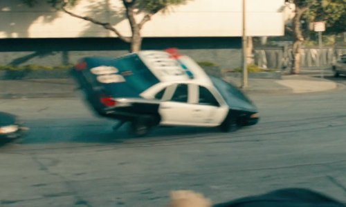 Ryan Gosling with Ford 1992 Crown Victoria LX Car in Drive