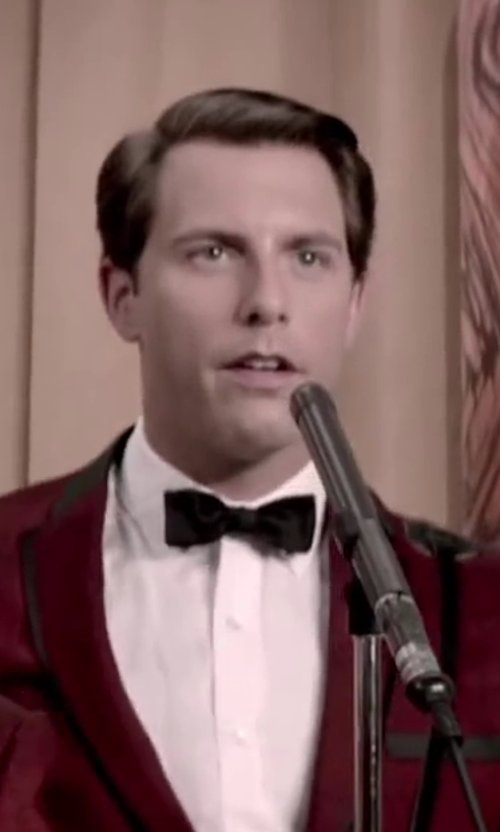 Michael Lomenda with DSQUARED SMALL JACQUARD SILK BOW TIE in Jersey Boys