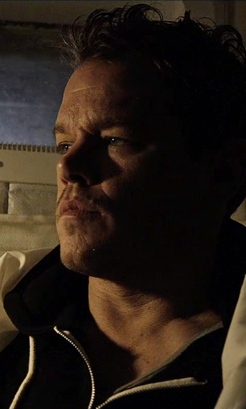 Matt Damon with True Religion Zip-Front Hoodie in The Martian