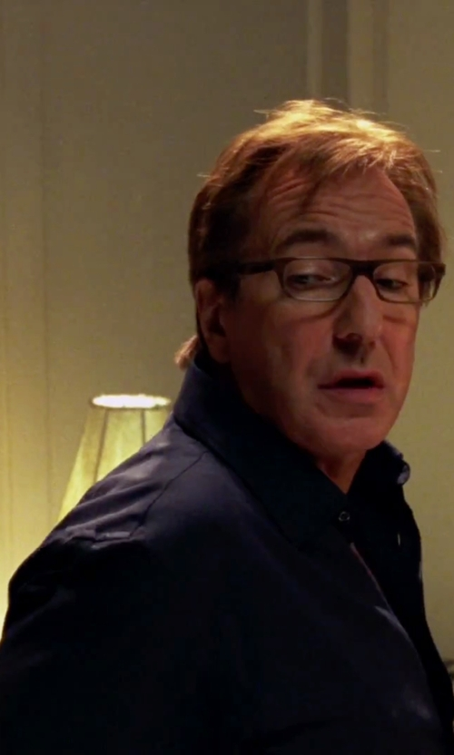 Alan Rickman with Calvin Klein Steel Solid Dress Shirt in Love Actually