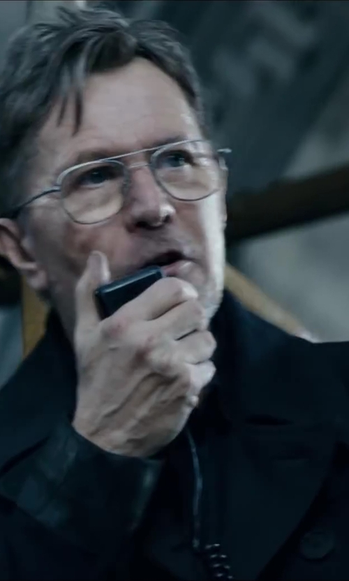 Gary Oldman with GIORGIO ARMANI VINTAGE Double Breasted Jacket in Dawn of the Planet of the Apes