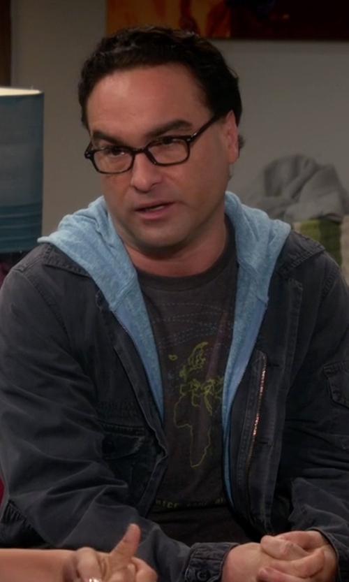 Johnny Galecki with Reclaimed Vintage Vintage Zip Up Hoodie in The Big Bang Theory