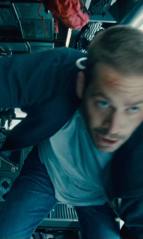 Paul Walker with Reigning Champ Mid Weight Terry Zip Hoodie Jacket in Furious 7