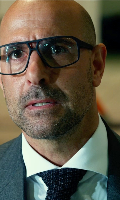 Stanley Tucci with RAG & BONE Knit Neck Tie in Transformers: Age of Extinction
