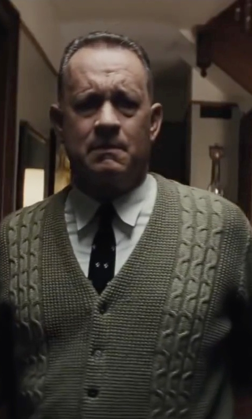 Tom Hanks with Isaac Mizrahi Slim-Fit Twill Solid Dress Shirt in Bridge of Spies