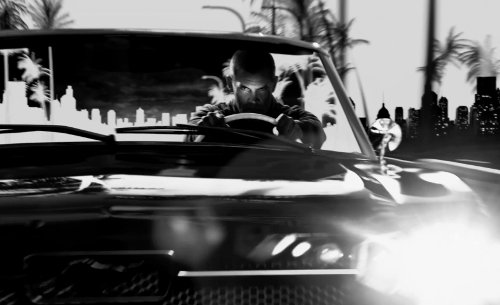 Josh Brolin with Ford 1966 Mustang Convertible in Frank Miller's Sin City: A Dame To Kill For