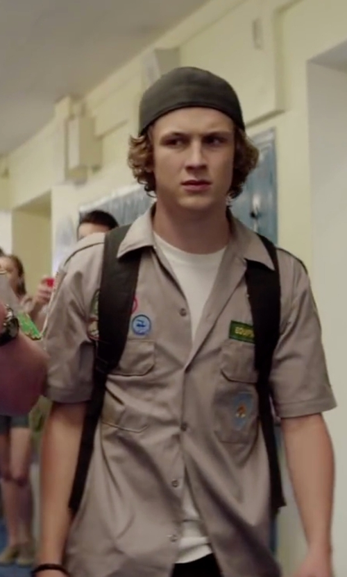 Logan Miller with Dickies Short-Sleeve Work Shirt in Scout's Guide to the Zombie Apocalypse