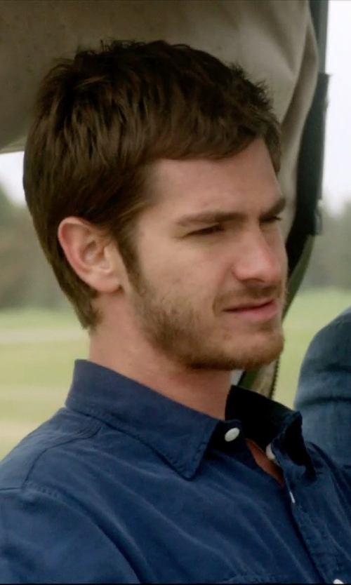 Andrew Garfield with Magliaro Button Down Shirt in 99 Homes