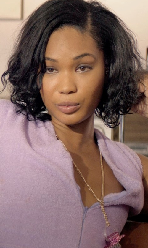Chanel Iman with Loquet London Lobster Clasp Chain Necklace in Dope