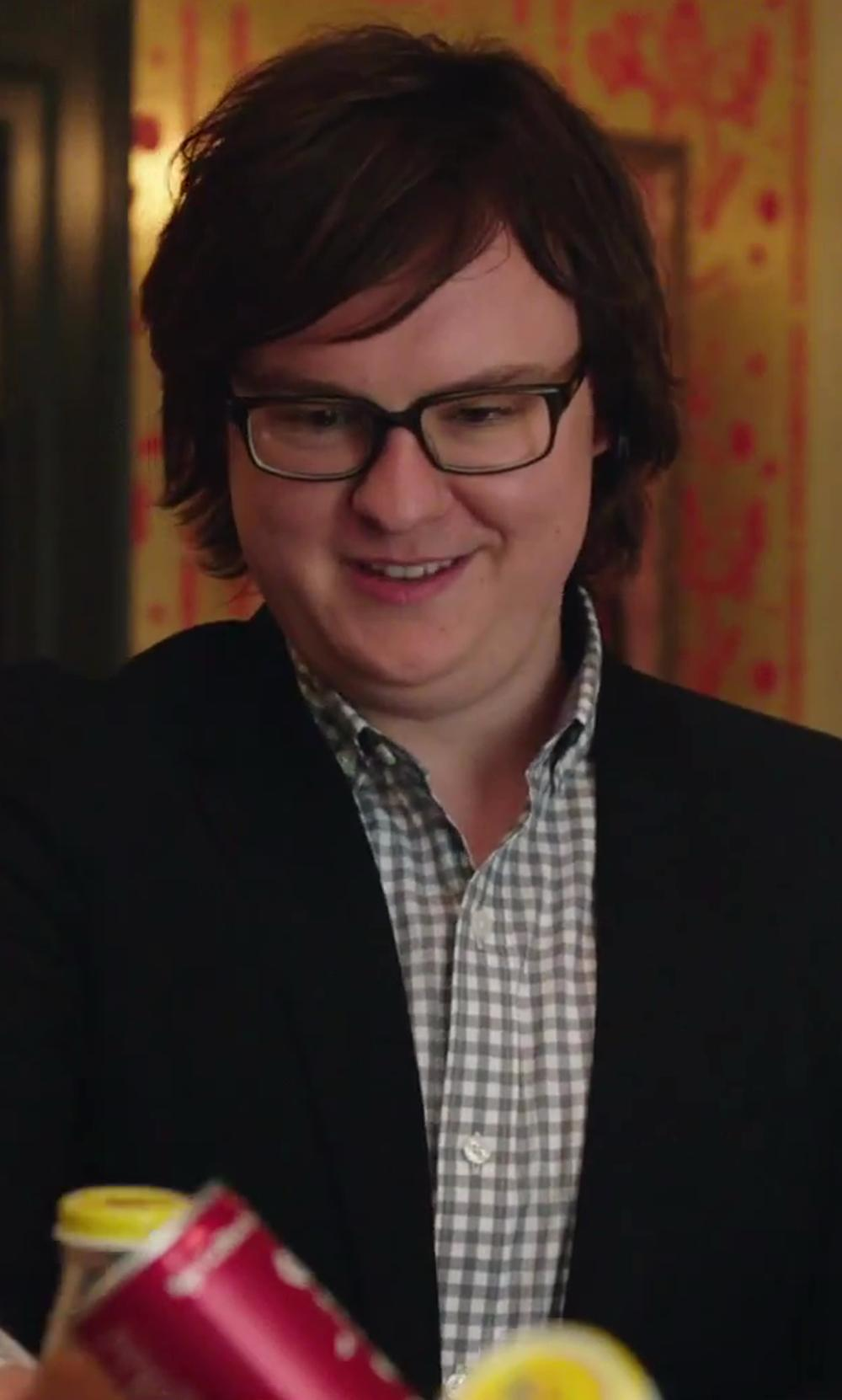 Clark Duke with Hugo Boss 'Gerald' WW Regular Fit Easy Iron Check Dress Shirt in Hot Tub Time Machine 2