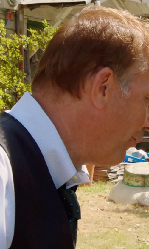 Kevin Costner with David Donahue Silk Vest in Black or White