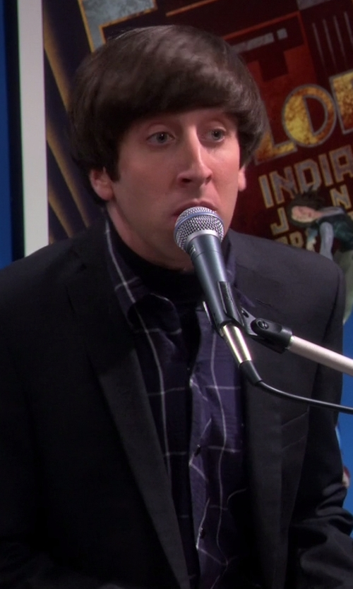 Simon Helberg with Urban Outfitters Salt Valley Western Plaid Button-Down Shirt in The Big Bang Theory