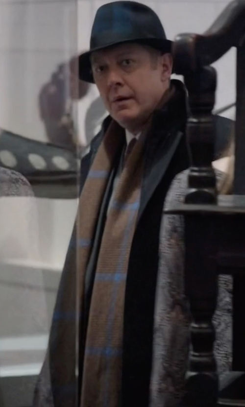 James Spader with John Varvatos Star USA Glen Plaid Scarf in The Blacklist