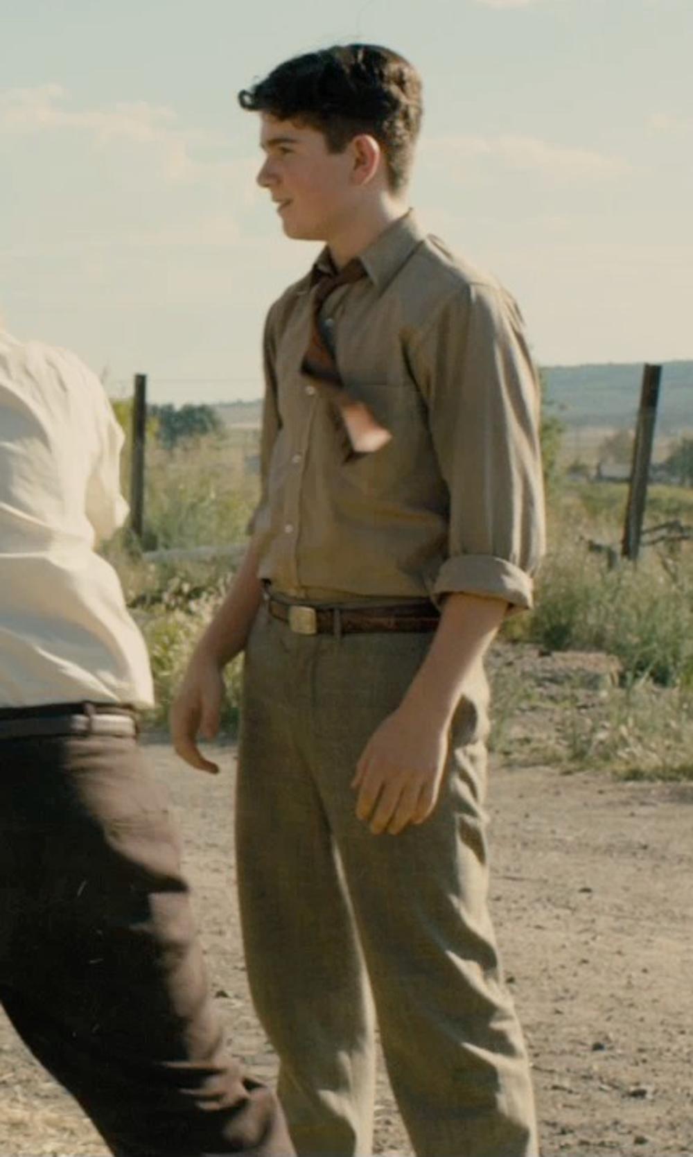 Unknown Actor with J. Crew Factory Kids' Buckle Belt in Unbroken