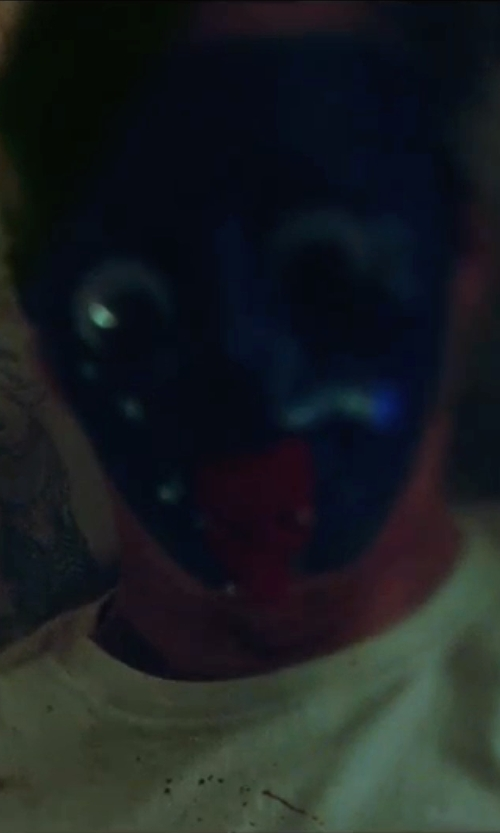 Unknown Actor with Team Spirit Blue Full Face Mask in The Purge: Election Year