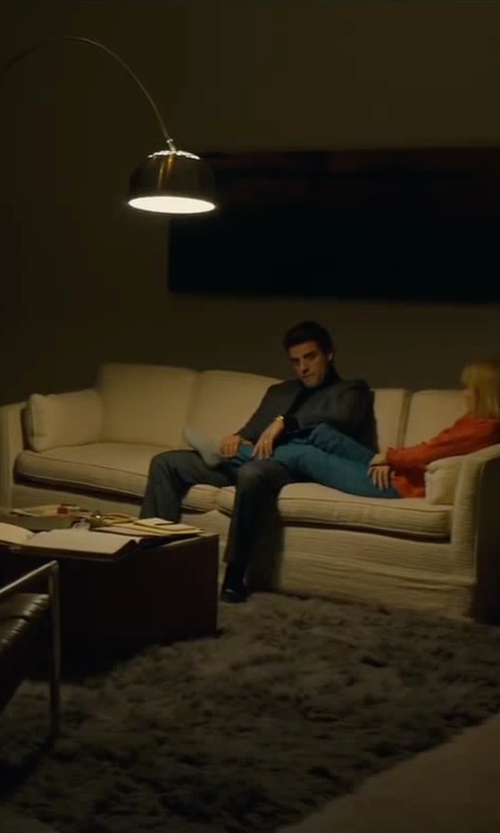 Oscar Isaac with Buchanan Roll Arm Upholstered Sleeper Sofa in A Most Violent Year