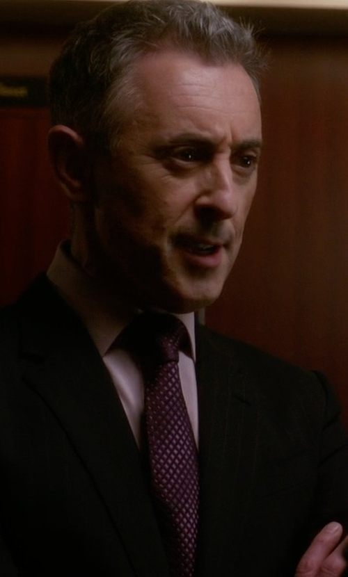 Alan Cumming with Calvin Klein Hot Grid Slim Tie in The Good Wife