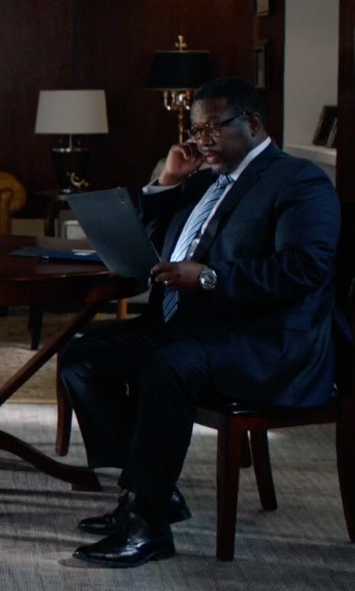 Wendell Pierce with Santoni 'Will' Penny Loafers in Suits