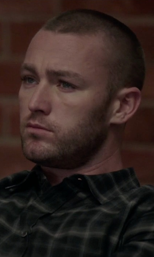 Jake McLaughlin with Polo Ralph Lauren Relaxed-Fit Plaid Button-Down Shirt in Quantico