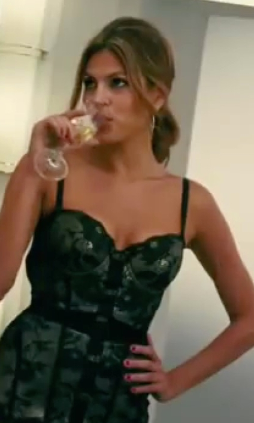 Eva Mendes with Roberto Cavalli Underwear Lace Bustier in The Women