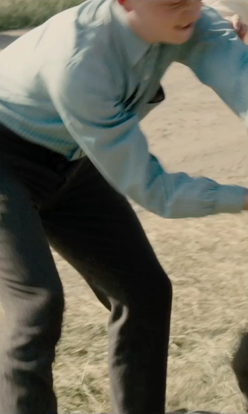 Unknown Actor with River Island Boys Light Blue Long Sleeve Oxford Shirt in Unbroken