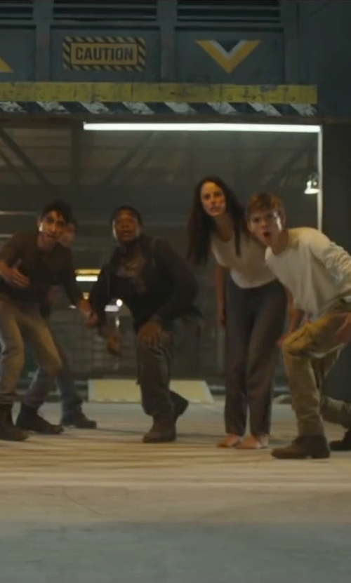 Dexter Darden with Rockport Total Motion Street Combat Boots in Maze Runner: The Scorch Trials