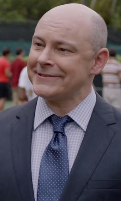 Rob Corddry with Salvatore Ferragamo Gancini Patterned Silk Tie in Ballers