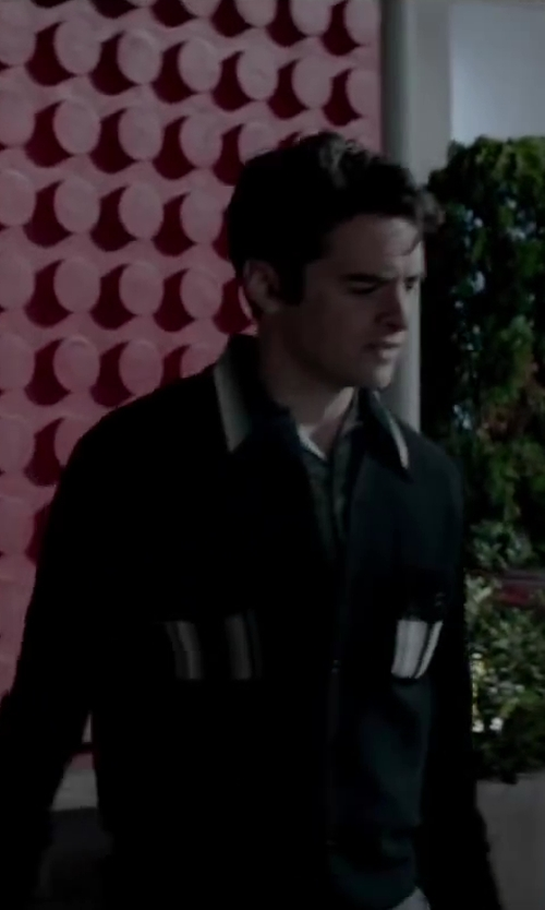 Vincent Piazza with Calvin Klein Sportswear Men's Slim Fit Silk Cotton Cardigan Sweater in Jersey Boys