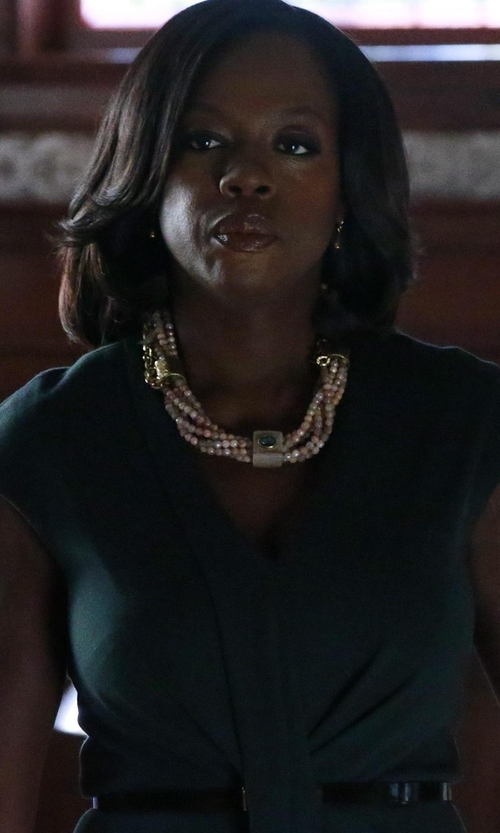 Viola Davis with Ashley Pittman Mchanga Multi-Strand Beaded Necklace in How To Get Away With Murder
