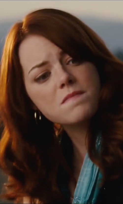 Emma Stone with Target Hoop Earrings in Easy A