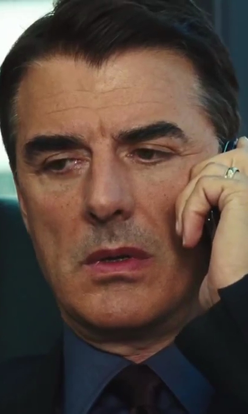 Chris Noth with Brioni	 Solid Silk Satin Tie in Sex and the City 2