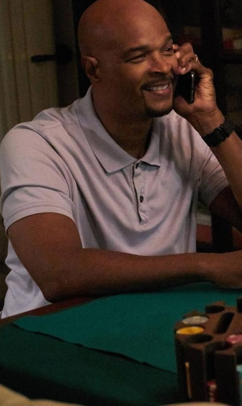 Damon Wayans with Michael Kors Sleek MK Polo Shirt in Lethal Weapon