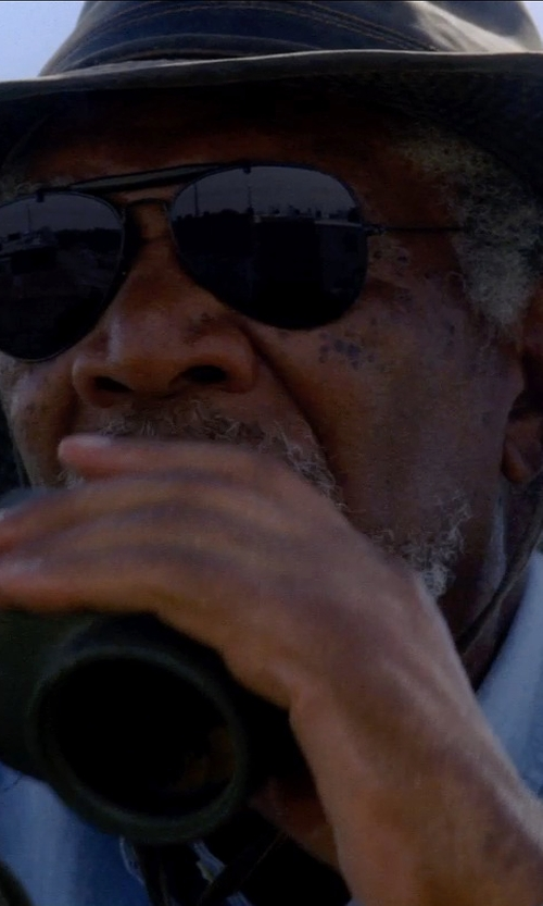 Morgan Freeman with MG Men's Fishing Hat in Transcendence