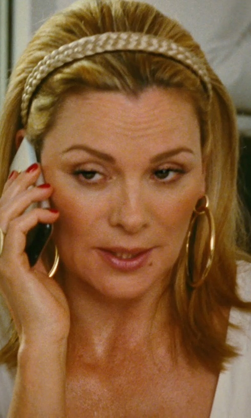 Kim Cattrall with Boticca Rocky Disc Cocktail Ring in Sex and the City