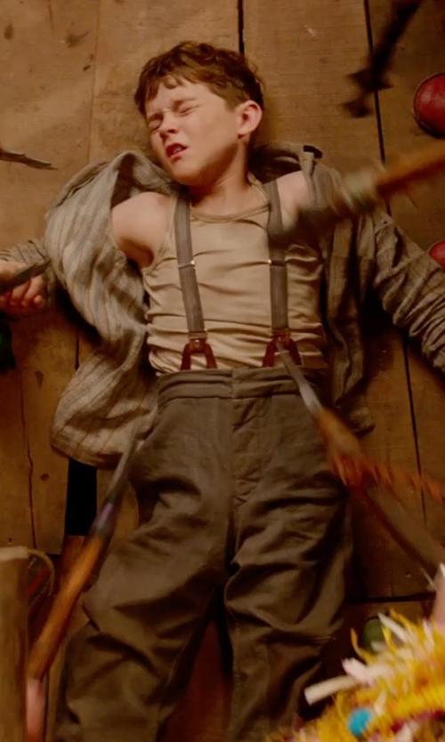 Levi Miller with Blu Pony Vintage Herbert H. Almond Chevron Pants in Pan