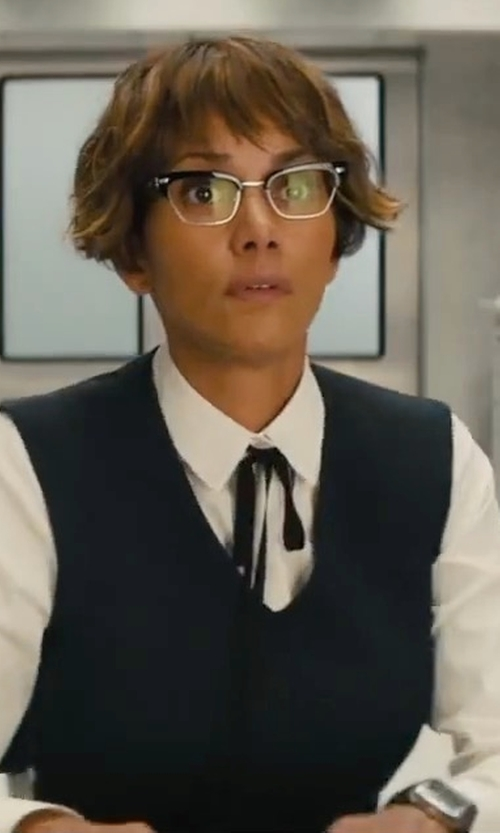Halle Berry with Red Valentino Tie Neck Blouse in Kingsman: The Golden Circle