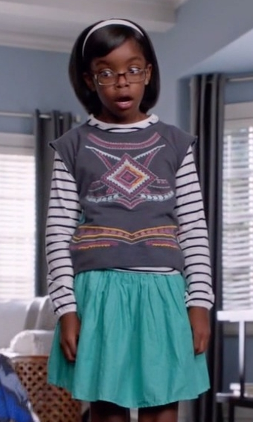 Marsai Martin with Fisichino Girls Skirt in Black-ish