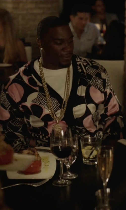 Donovan W. Carter with Ross & Simons Cuban Link Necklace in Ballers
